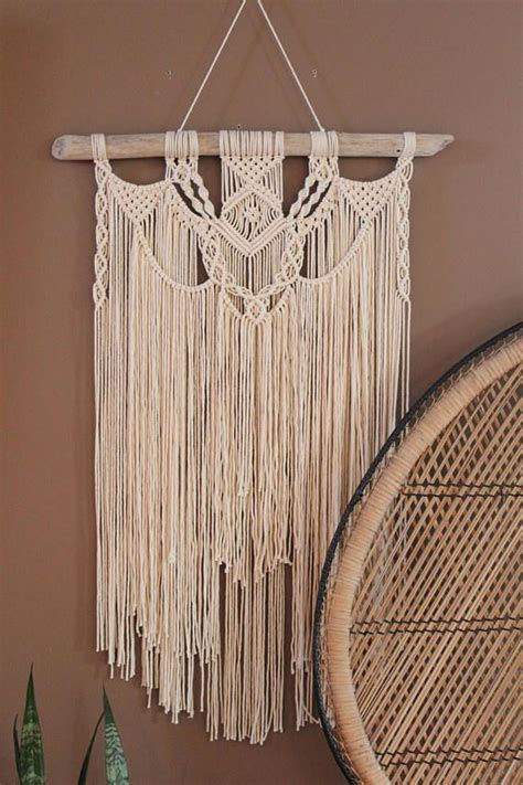 Backdrop Wall Hanging by Large Macrame Wall Hanging On Driftwood Wedding Backdrop