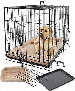 Pet dog cat cage crate kennel and bed cushion warm soft for Puppy dog kennels