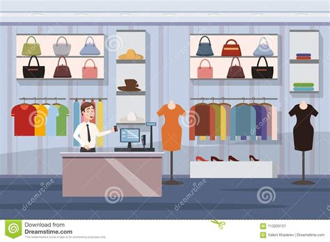 fashion shop super market female clothes shopping mall