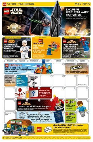 LEGO May 2015 Store Calendar Promos & Events