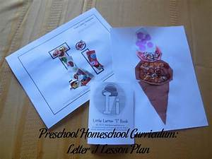Preschool Homeschool Curriculum Letter I Lesson Plan
