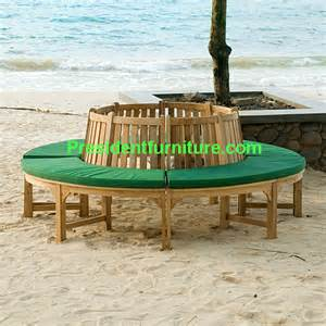 Folding Teak Chairs by Cushion For Round Tree Bench By President Furniture