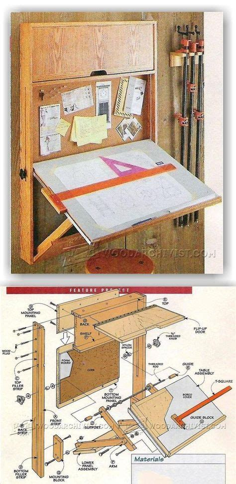 fold  drafting table plans woodworking projects diy