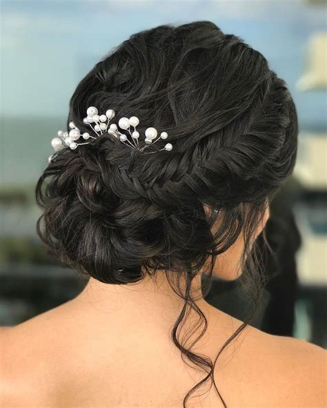 soft braided updo bridal hairstyle  inspired