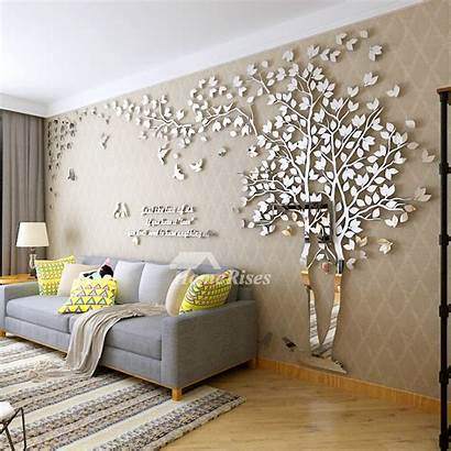 Wall Decals Living Tree Acrylic Mirror Personalised