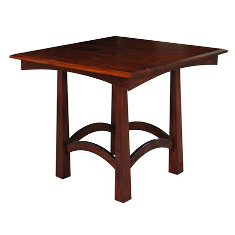 shaker pub table amish crafted furniture