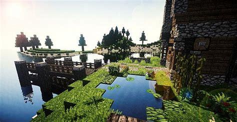 medieval house    island minecraft building