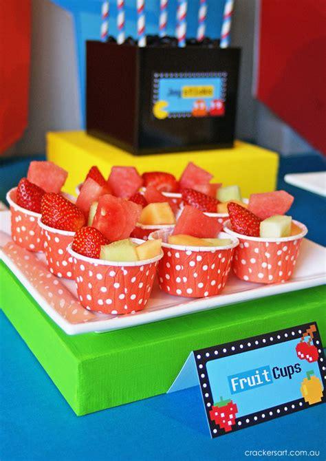 karas party ideas arcade video game pac man sonic mario