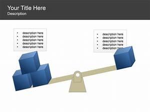 Powerpoint Slide - Balance Diagram - Cubes - Scale