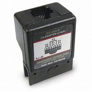 110 Block Adapter  4 568b