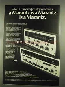 Marantz Receiver Vintage Ad