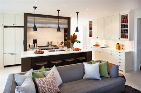 cuisine en u ouverte sur salon idée cuisine ouverte sur salon petit espace cuisine en image