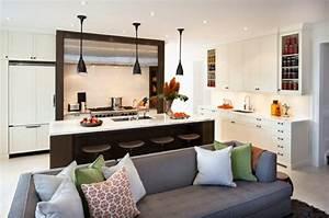 Ide Cuisine Ouverte Sur Salon Petit Espace Cuisine En Image