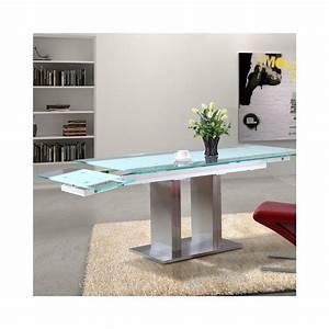 Table Ronde En Verre Pied Central : table pied central ~ Teatrodelosmanantiales.com Idées de Décoration