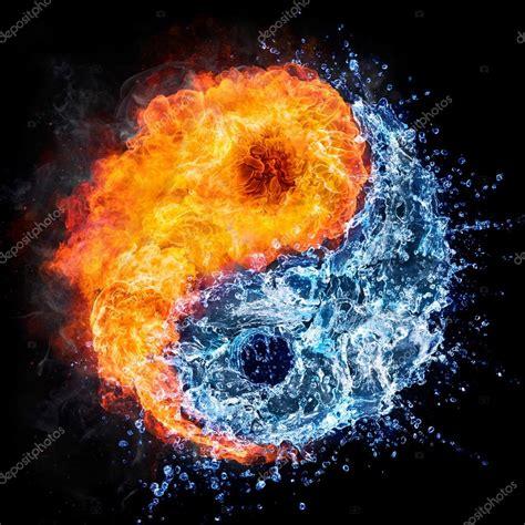 Cool Yin Yang Wallpapers Símbolo De Tao Conceito De Yin Yang Fogo E água Stock Photo Rfphoto 81539246