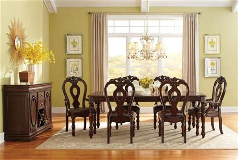 westchester traditional cherry wood 7pc dining room set