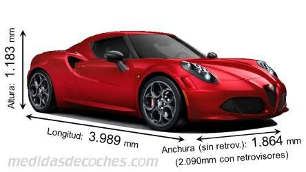 medidas  dimensiones de coches marca alfa romeo