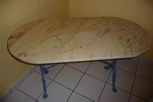 Table Marbre Ovale : tables de bistrot occasion en haute normandie annonces achat et vente de tables de bistrot ~ Teatrodelosmanantiales.com Idées de Décoration