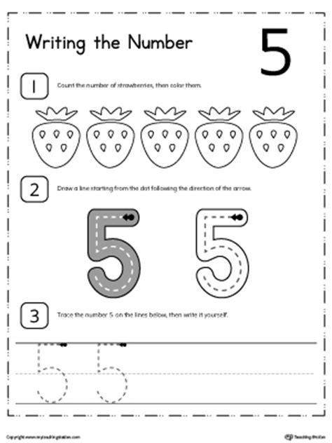 practice writing numbers 5 9 myteachingstation