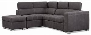 Drake 3 piece faux suede left facing sectional with sofa for Drake 3 piece sectional sofa