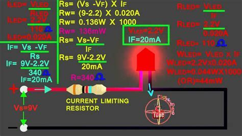 LED 9v circuit calculation, how to calculate led series