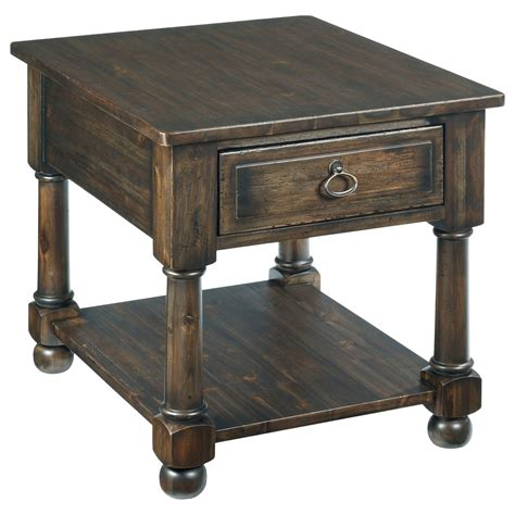 vintage accent tables vintage end table with one drawer and one shelf by 3155