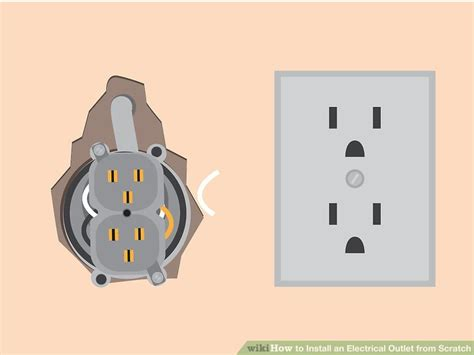 install  electrical outlet  scratch
