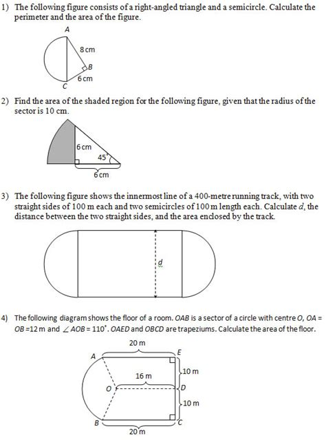 area  figures  include circles part  worksheets