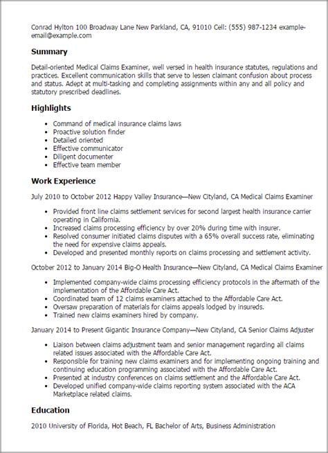 Claims Processor Resume by Insurance Claims Administrator Cover Letter Template