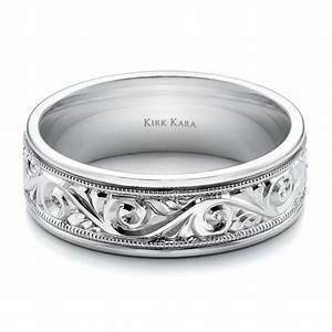 Hand Engraved Men39s Wedding Band Kirk Kara 100671