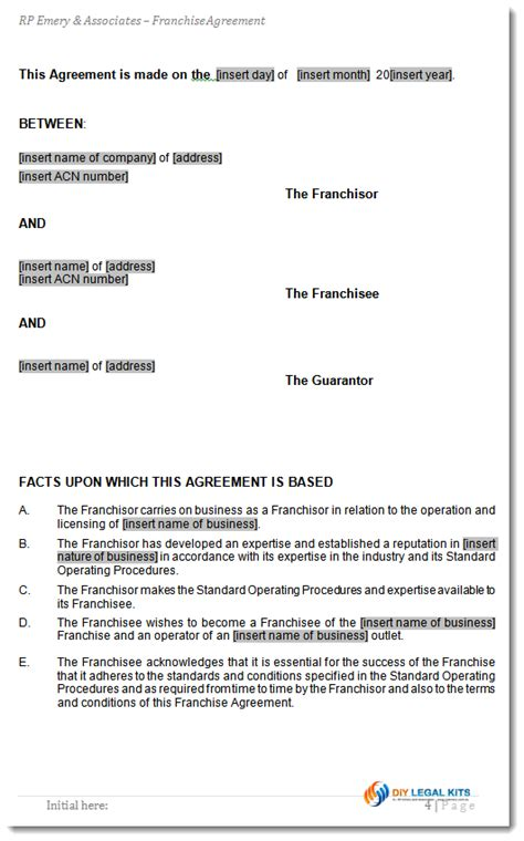 Nsw Boat Licence Renewal Cost by Franchise Agreement Template For Australian Franchises