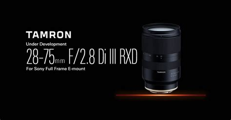 tamron 28 75mm f 2 8 di iii rxd is a lightweight compact high speed standard zoom lens for