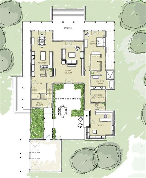 home plans with courtyard the 25 best ideas about courtyard house plans on