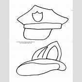 Drawn hat polic...