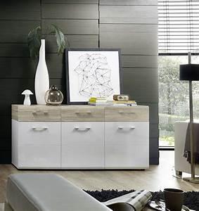 Kommode Flur Weiß : kommode spirit sideboard wohnzimmer esszimmer flur wei sandeiche ebay ~ Yasmunasinghe.com Haus und Dekorationen