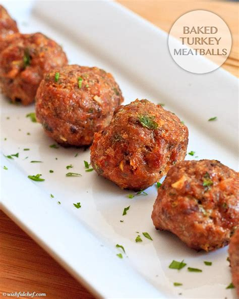 baked turkey meatballs wishful chef