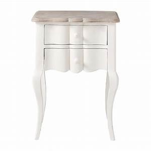 Maison Du Monde Chevet : table de chevet avec tiroirs en manguier blanche l 48 cm martigues maisons du monde ~ Teatrodelosmanantiales.com Idées de Décoration