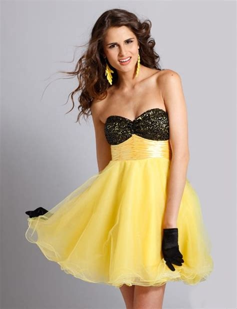 Clarisse prom dress #1310 - black/yellow or black/lime ...
