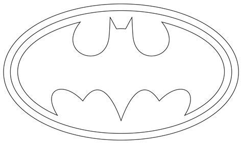 Batman Logo Printable Coloring Pages Superhero Party