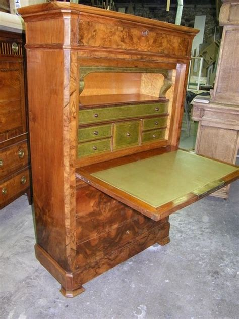 meuble bureau secretaire restauration secrétaire de style et d 39 époque xviiième