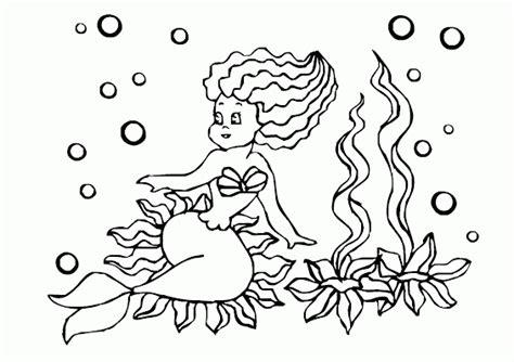 mewarnai gambar putri duyung tumbuhan laut