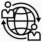 Business Icon Global Partner International Partnering Icons