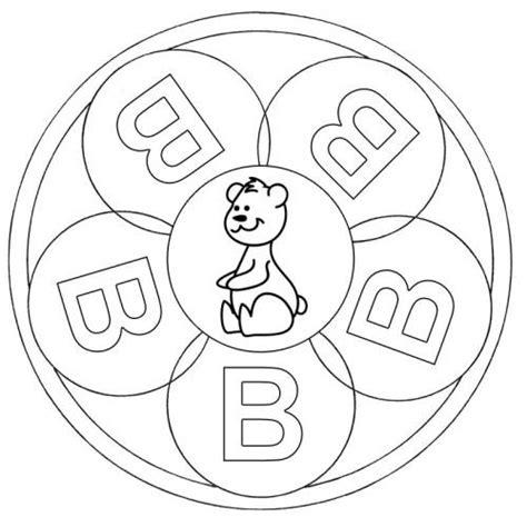 mandalas für kinder zum ausdrucken kostenlose malvorlage mandalas mandala buchstabe b zum ausmalen zum ausmalen