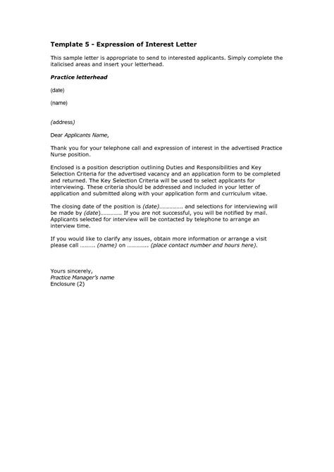 write  letter  interest format