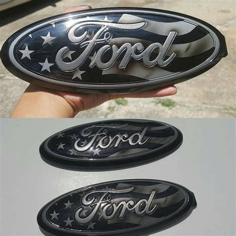 set   custom painted ford oval emblems