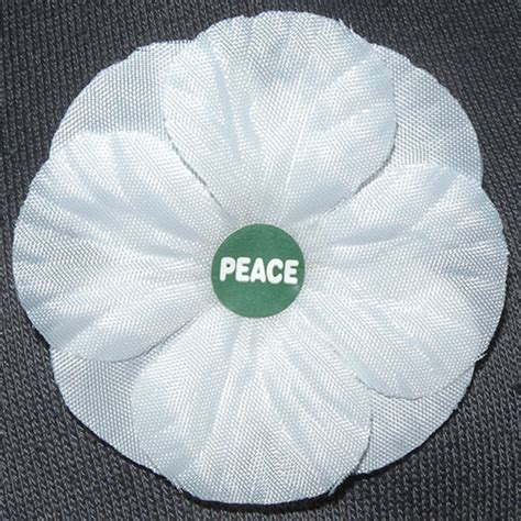 White Poppy by Remembrance White Poppies Peace Pledge Union
