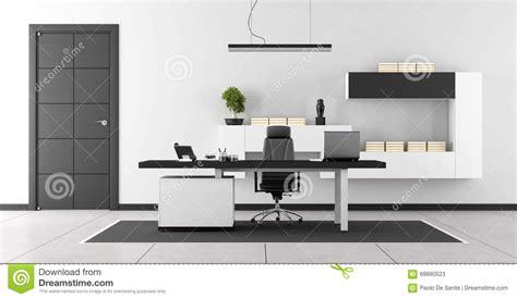 bureaux moderne bureau moderne noir et blanc illustration stock image