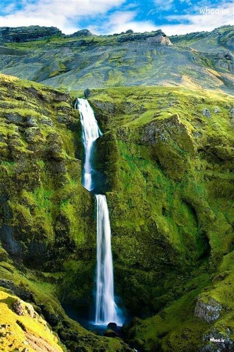 natural waterfall hd wallpaper  mobile