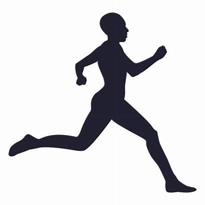 Corriendo Silueta Atleta Silhueta Correndo Running Correr