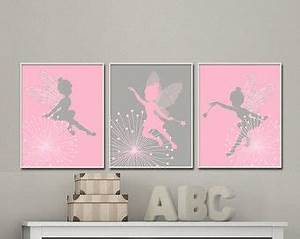 Wandbilder Kinderzimmer Mädchen : fairy nursery wall print baby girl pink and gray fairy wall print girls bedroom decor h645 ~ A.2002-acura-tl-radio.info Haus und Dekorationen